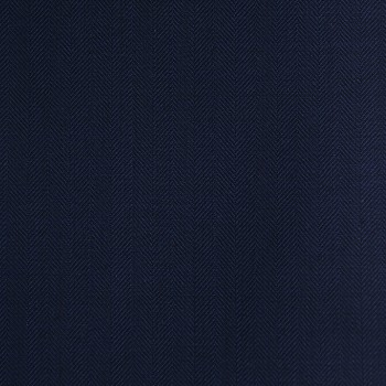 NAVY BLUE HERRINGBONE WOOL BLEND