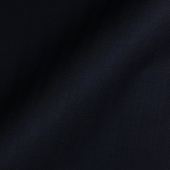 VERY DARK NAVY HERRINGBONE WOOL BLEND