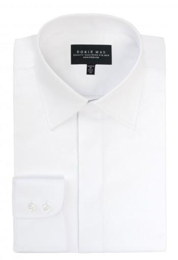 White straight point collar shirt