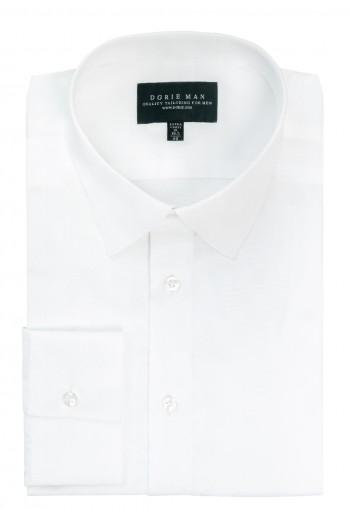 White Semi Spread Collar Shirt