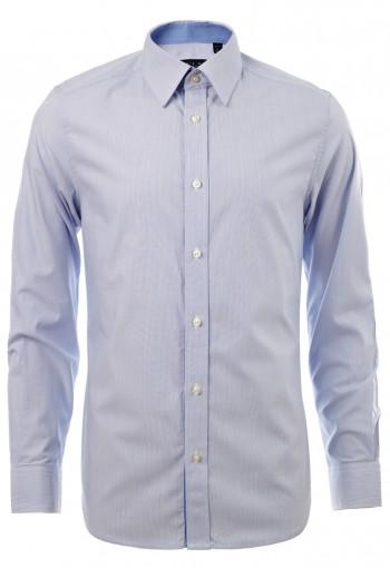 เสื้อเชิ้ตลายทางสีฟ้า
