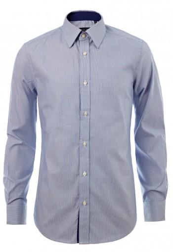 เสื้อเชิ้ตลายทางสีน้ำเงิน