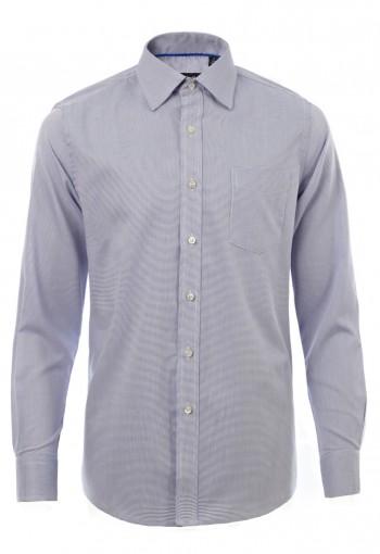เสื้อเชิ้ตลายจุดสีน้ำเงิน