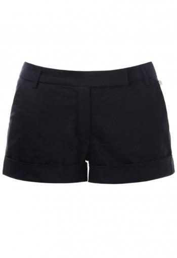 กางเกงขาสั้นผ้ายืดสีดำ