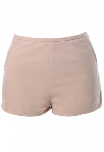กางเกงขาสั้นสีเบจ