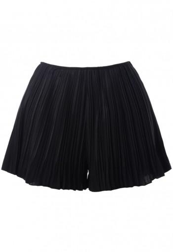 กางเกงกระโปรงอัดพลีทสีดำ