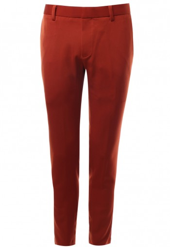 กางเกงขายาวสีส้มอิฐ