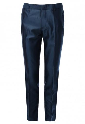 กางเกงผู้ชายสีน้ำเงิน ผ้าพิเศษ