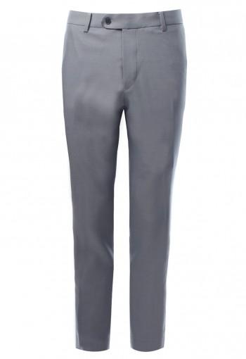 กางเกงสีเทา ทรงกระบอกเล็ก