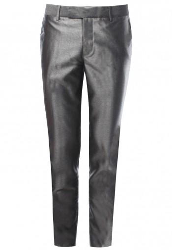 กางเกงขายาว สีเทาเงิน Shark Skin