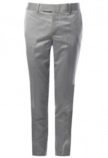 กางเกงขายาว สีเทาอ่อน Herringbone