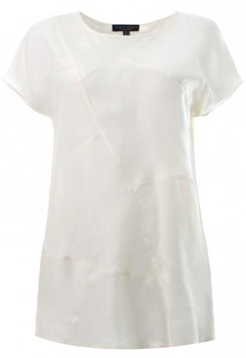 เสื้อตััดต่อแขนสั้นสีขาว