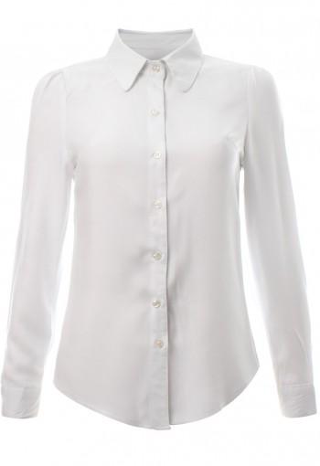 เสื้อเชิ้ิ้ตสีขาวแขนยาว