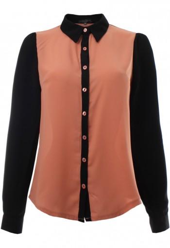 เสื้อเชิ้ตแขนยาวสีส้ม