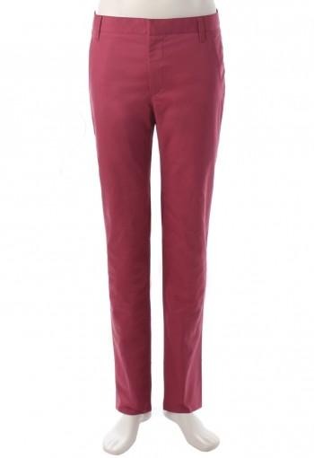 กางเกงสีแดงชมพูขากระบอกเล็ก
