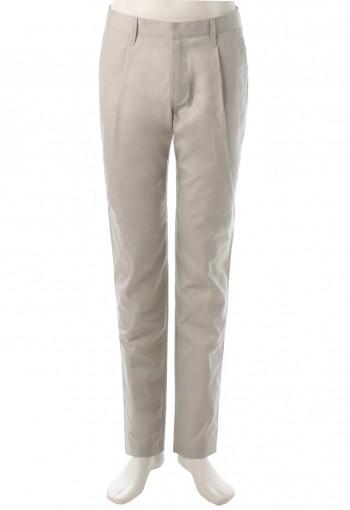 กางเกงสีน้ำตาลอ่อนจับเกล็ดหน้า เดินเส้นฝากระเป๋าหลัง