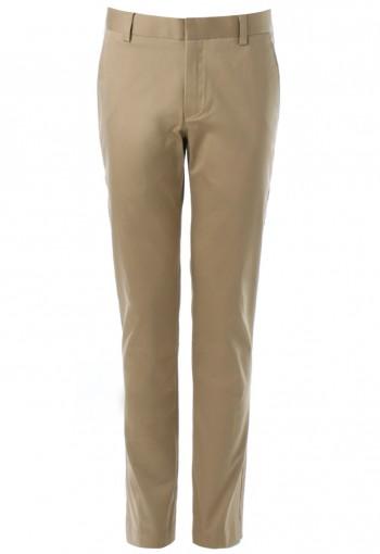 กางเกงทรงกระบอกสีกากี ผ้าสเปนเด็กซ์