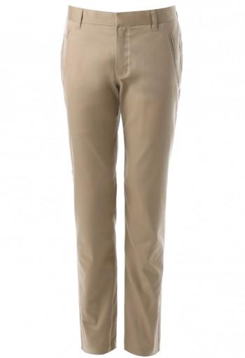 กางเกงสีกากีทรงกระบอก