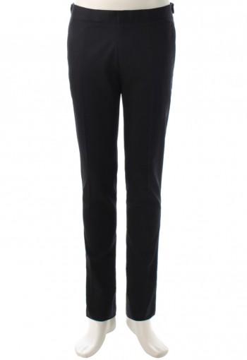 กางเกงสีดำกระบอกเล็กขอบอินทนู