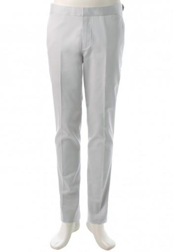 กางเกงสีเทาทรงกระบอกเล็ก ขอบอินทนู
