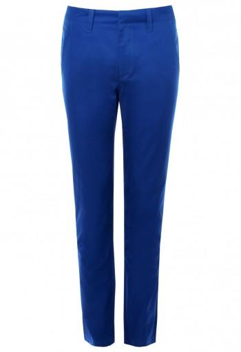 กางเกงขายาวสีน้ำเงิน ขากระบอกเล็ก