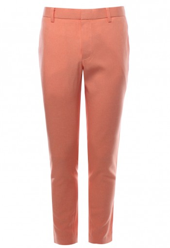 กางเกงขายาว สีส้ม ทรงกระบอกเล็ก