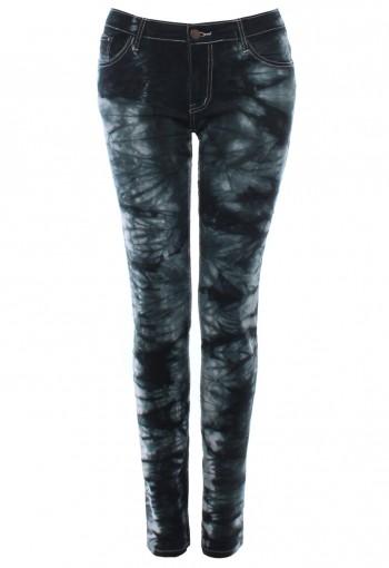 กางเกงยีนส์ ฟอกลาย สีเทาดำ
