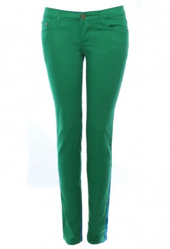 กางเกงยีนส์ สกินนี่ สีเขียว
