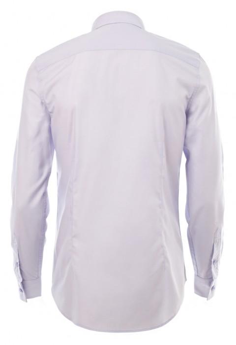 เสื้อเชิ้ตปกเล็กสีม่วงอ่อน