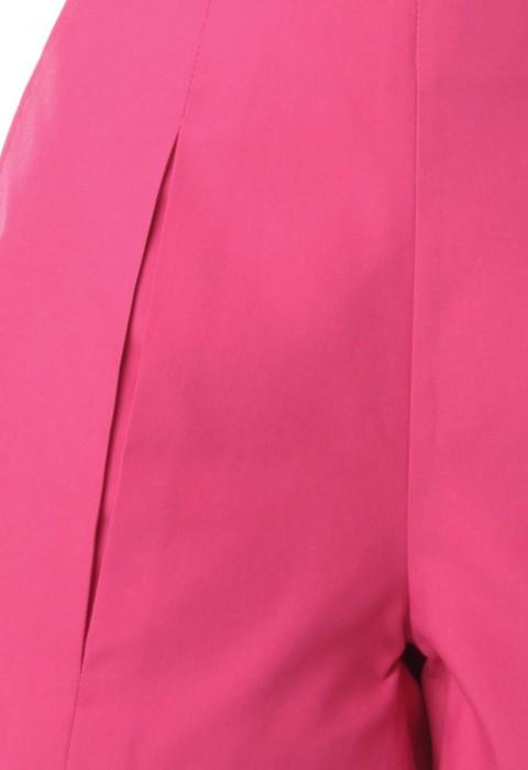 กางเกงขาสั้นสีชมพู จับจีบทวิส