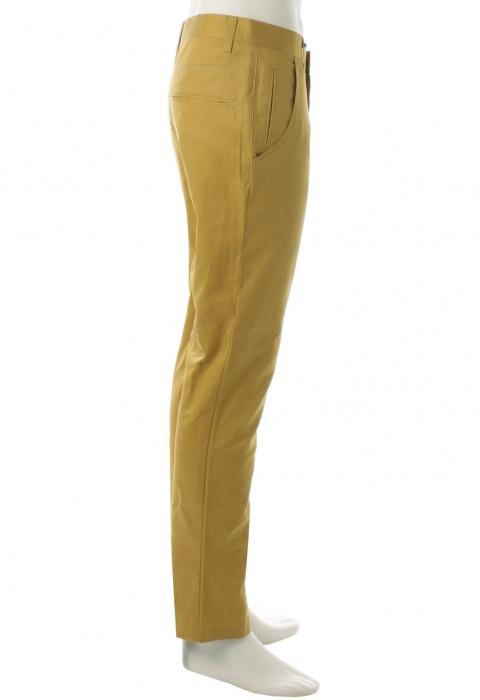 กางเกงสีมัสตาร์ดขากระบอกเล็ก
