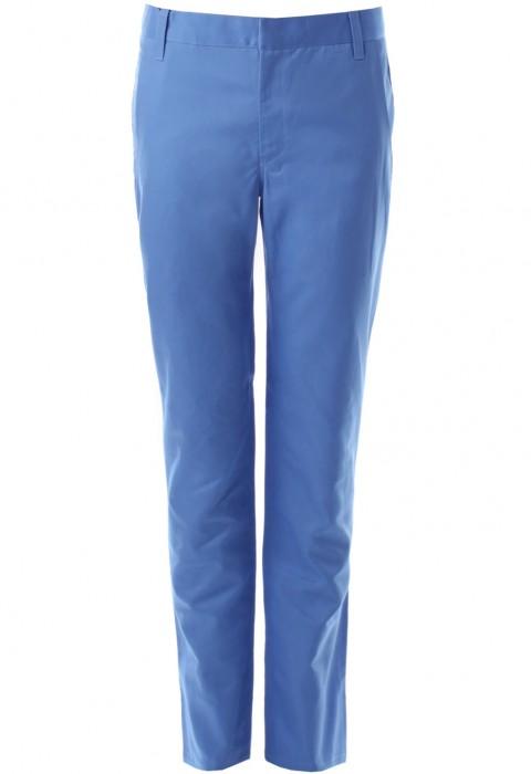 กางเกงสีฟ้าขากระบอกเล็ก