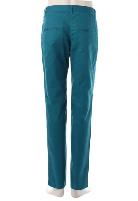 กางเกงขายาวสีฟ้าทะเลขากระบอกเล็ก