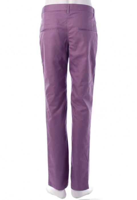 กางเกงสีม่วงมังคุดขากระบอกเล็ก
